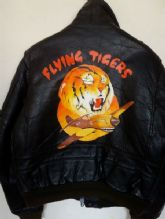 Vtg SCHOTT A-2 'Flying Tigers' Flight Leather Jacket Size Large